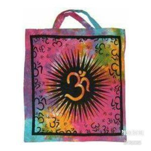 New Om Sunburst, Tie Dye Tote Bag